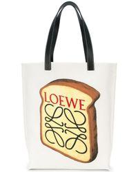 Loewe - White Toast Printed Tote - Lyst