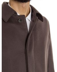 Herno - Brown Cashmere Coat for Men - Lyst