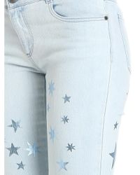 Stella McCartney Blue Bootcut Jeans With Stars