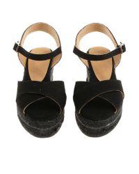 Castaner - Black Blaudell Wedge Sandals - Lyst