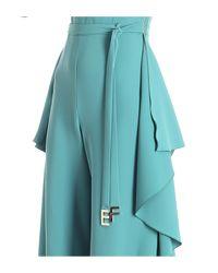 Elisabetta Franchi - One-shoulder Green Jumpsuit - Lyst