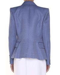 Balmain - Light-blue Double-breasted Jacket - Lyst