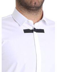 Neil Barrett - White Cotton Shirt for Men - Lyst