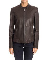 Desa Nineteenseventytwo - Brown Leather Jacket - Lyst
