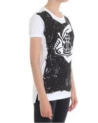 Vivienne Westwood Anglomania - White Classic T-shirt With Logo - Lyst