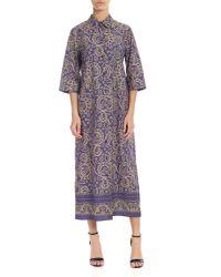 Ottod'Ame Purple Dress With Paisley Motif