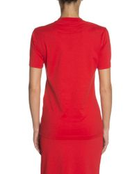 Givenchy - Red Round Neck T-shirt - Lyst