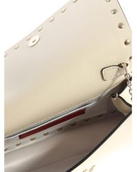 Valentino - Natural Clutch With Studs - Lyst