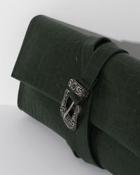 MM6 by Maison Martin Margiela - Green Croc Belted Clutch - Lyst