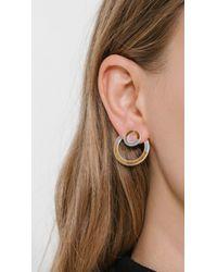 Pamela Love - Metallic Quarter Earrings - Lyst