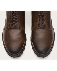 Frye - Brown William Lug Lace Up for Men - Lyst