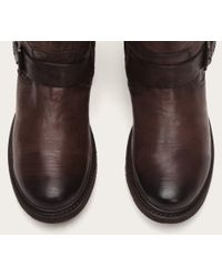 Frye | Brown Valerie Belted Tall Shearling | Lyst