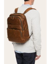 Frye - Brown Logan Backpack for Men - Lyst