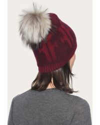 Frye - Purple Women's Logo Pom Hat - Lyst