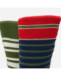Anonymous Ism | Multicolor Diffa Border Crew Socks for Men | Lyst