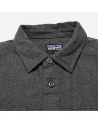 Patagonia - Gray Fjord Flannel Shirt for Men - Lyst