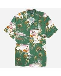 Gitman Brothers Vintage - Green Aloha Camp Shirt for Men - Lyst