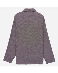 Universal Works - Brown Seal Cotton Shawl Collar Overshirt for Men - Lyst