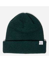 b78149347fd Norse Projects Norse Beanie in Green for Men - Lyst