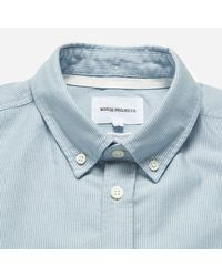 "Norse Projects - Blue Anton Oxford Short Sleeve Shirt ""hip Exclusive"" for Men - Lyst"
