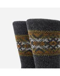 Anonymous Ism - Gray Estonian Jacquard Socks for Men - Lyst
