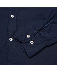 Universal Works | Blue Poplin Stoke Shirt for Men | Lyst