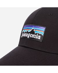 Patagonia - Black P6 Logo Stretch Fit Hat for Men - Lyst