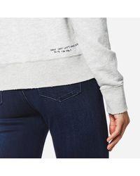 Maison Scotch - Gray Women's Loose Fit Heart Sweatshirt - Lyst