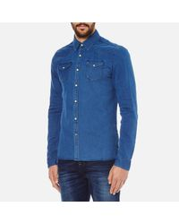 Scotch & Soda - Blue Western Denim Shirt for Men - Lyst
