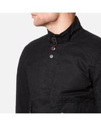 Pretty Green - Blue Garrat Waxed Jacket for Men - Lyst