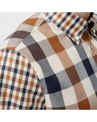 Aquascutum - Multicolor Men's Dart Mixed Cc Check Short Sleeve Shirt for Men - Lyst