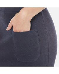 SELECTED - Blue Jula Slit Sweat Skirt - Lyst