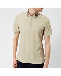 Aquascutum - Natural Men's Coniston Cc Collar Short Sleeve Polo Shirt for Men - Lyst