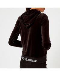 Juicy Couture - Black Juicy Jacquard Rib Velour Robertson Jacket - Lyst