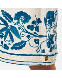 Maison Scotch - White Women's Boho Off The Shoulder Dress With Embroidery - Lyst