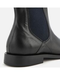 H by Hudson - Black Wynford Leather Chelsea Boots for Men - Lyst