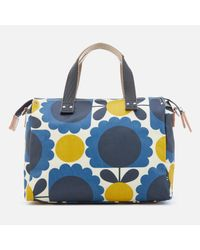 Orla Kiely - Blue Denim Small Zip Messenger - Lyst
