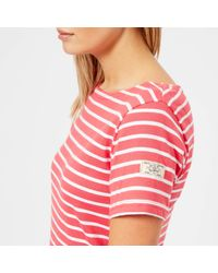 Joules - Red Riviera Short Sleeve Jersey Dress - Lyst