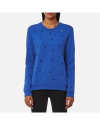 BOSS Orange - Blue Women's Tabirdy Sweatshirt - Lyst
