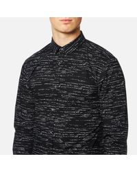 HUGO - Black Men's Ero 3 Patterned Shirt for Men - Lyst