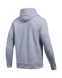 Under Armour - Gray Rival Fitted Graphic Hoody for Men - Lyst