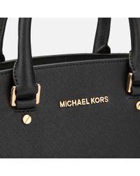 MICHAEL Michael Kors - Black Selma Medium Top Zip Satchel - Lyst