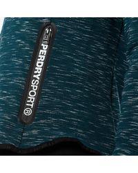 Superdry Blue Sport Gym Tech Luxe Zip Hoody