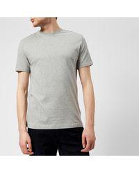 Aquascutum - Gray Southport Cc Shoulder Short Sleeve T-shirt for Men - Lyst