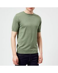 John Smedley - Green Belden 30 Gauge Sea Island Cotton T-shirt for Men - Lyst