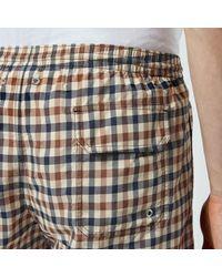 Aquascutum - Multicolor Carlton Club Check Swim Shorts for Men - Lyst