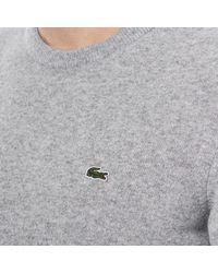 Lacoste - Gray Men's Basic Crew Knitted Jumper for Men - Lyst