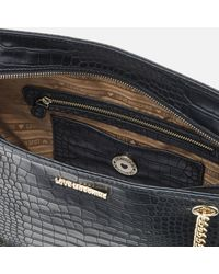 Love Moschino | Black Croc Shopper Tote Bag | Lyst