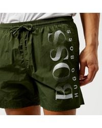 730993d9c190c BOSS Octopus Swim Shorts in Green for Men - Lyst