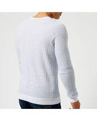 HUGO - White Stanon Knit Jumper for Men - Lyst